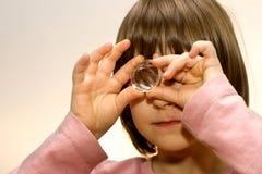 Bambina con il diamante Immagini Stock