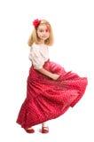 Bambina con il fiore paynted immagini stock libere da diritti