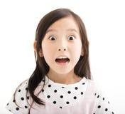 bambina con il fronte sorpreso Fotografie Stock Libere da Diritti
