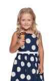 Bambina con il gelato Immagine Stock Libera da Diritti