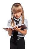 Bambina con il libro Fotografie Stock Libere da Diritti