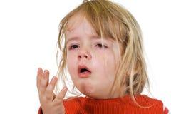 Bambina con l'influenza Fotografia Stock Libera da Diritti