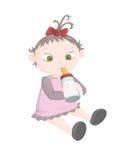 Bambina con la bottiglia Illustrazione di Stock
