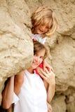 Bambina con la madre Fotografia Stock