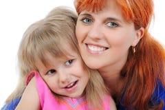 Bambina con la sua madre Fotografia Stock Libera da Diritti