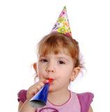 Bambina con la tromba Immagini Stock