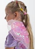 Bambina con le ali leggiadramente Immagini Stock Libere da Diritti