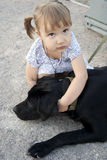 Bambina con un cane Immagine Stock Libera da Diritti