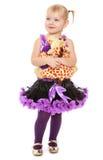 Bambina con un giocattolo molle Fotografia Stock
