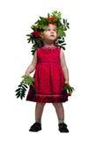 Bambina con una cenere di montagna Fotografia Stock Libera da Diritti
