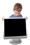 Bambina con visualizzazione Fotografia Stock Libera da Diritti