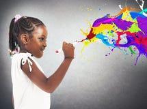 Bambina creativa fotografie stock libere da diritti
