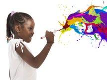 Bambina creativa fotografia stock
