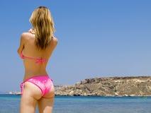 Bambina del bikini Immagini Stock