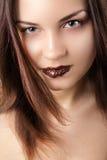 Bambina del cioccolato Fotografie Stock