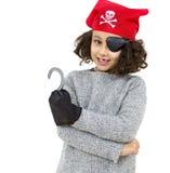 Bambina del pirata Fotografia Stock