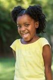 Bambina dell'afroamericano Fotografia Stock