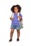 Bambina dell'allievo con la bella acconciatura Immagini Stock Libere da Diritti