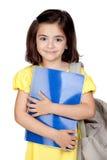 Bambina dell'allievo con uno zaino Fotografie Stock