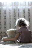 Bambina depressa Immagini Stock Libere da Diritti