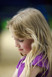 Bambina depressa Fotografie Stock