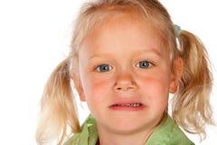 Bambina Displeased fotografia stock libera da diritti