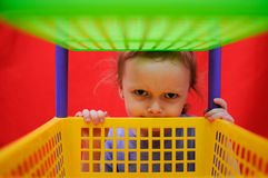 Bambina divertente Fotografie Stock Libere da Diritti
