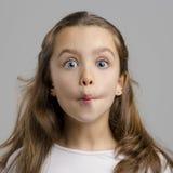 Bambina divertente fotografia stock