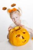 Bambina durante il Halloween Fotografie Stock