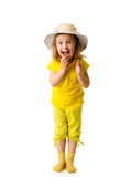 Bambina emozionante Immagine Stock