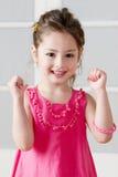 Bambina felice Fotografie Stock
