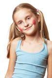 Bambina felice divertente. fotografia stock libera da diritti