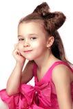 Bambina graziosa isolata Fotografie Stock