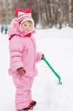 Bambina in inverno Fotografie Stock