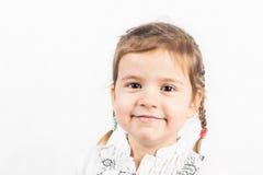 Bambina isolata su bianco immagine stock