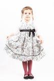 Bambina isolata su bianco fotografia stock libera da diritti