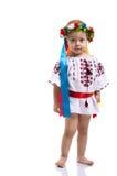 Bambina nei vestiti nazionali ucraini Immagine Stock Libera da Diritti