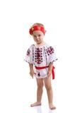 Bambina nei vestiti nazionali ucraini Fotografia Stock