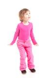 Bambina nel colore rosa Immagine Stock Libera da Diritti