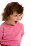 Bambina nel colore rosa Immagini Stock Libere da Diritti