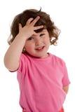 Bambina nel colore rosa Immagini Stock