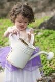 Bambina nel giardino Fotografia Stock