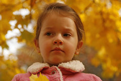 Bambina nella sosta Fotografie Stock