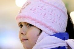 Bambina nella stagione di inverno Fotografia Stock Libera da Diritti