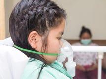 Bambina in ospedale Fotografie Stock