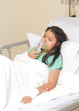 Bambina in ospedale Fotografia Stock Libera da Diritti