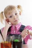 Bambina a Pasqua Immagine Stock
