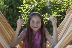Bambina piacevole nella meditazione Immagine Stock