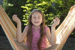 Bambina piacevole nella meditazione Immagini Stock Libere da Diritti