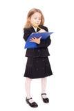 Bambina piacevole in un uniforme scolastico Fotografie Stock Libere da Diritti